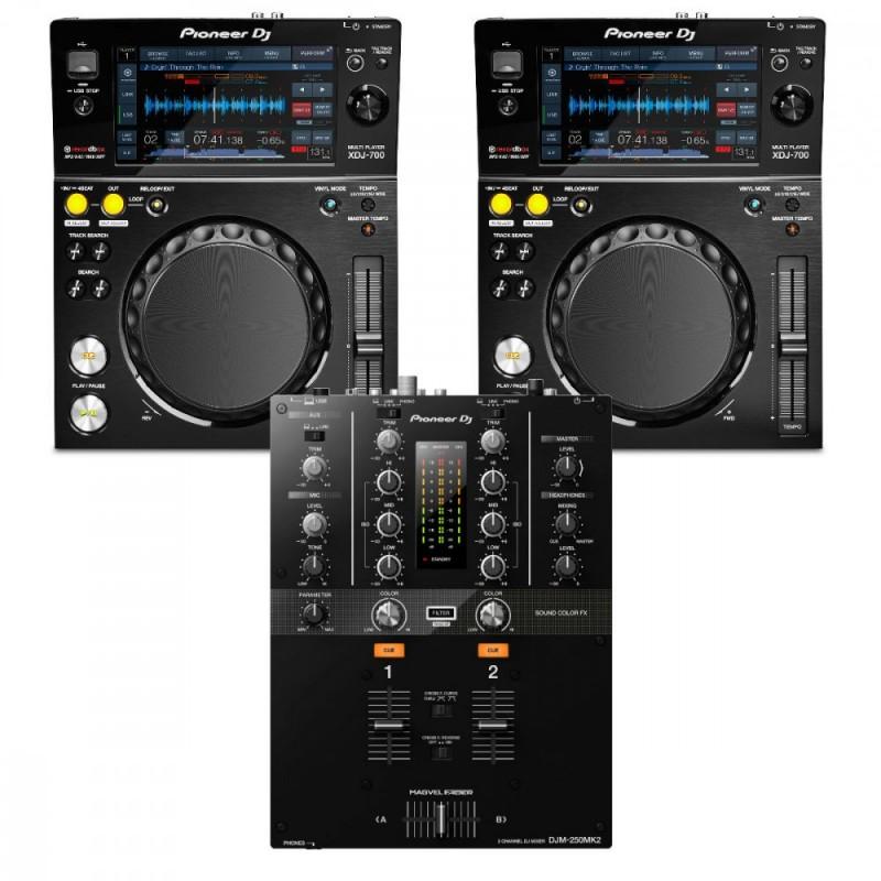 Pioneer XDJ-700 & DJM250mk2  Package