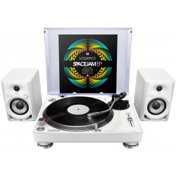 Pioneer PLX-500 White & DM-40 Package