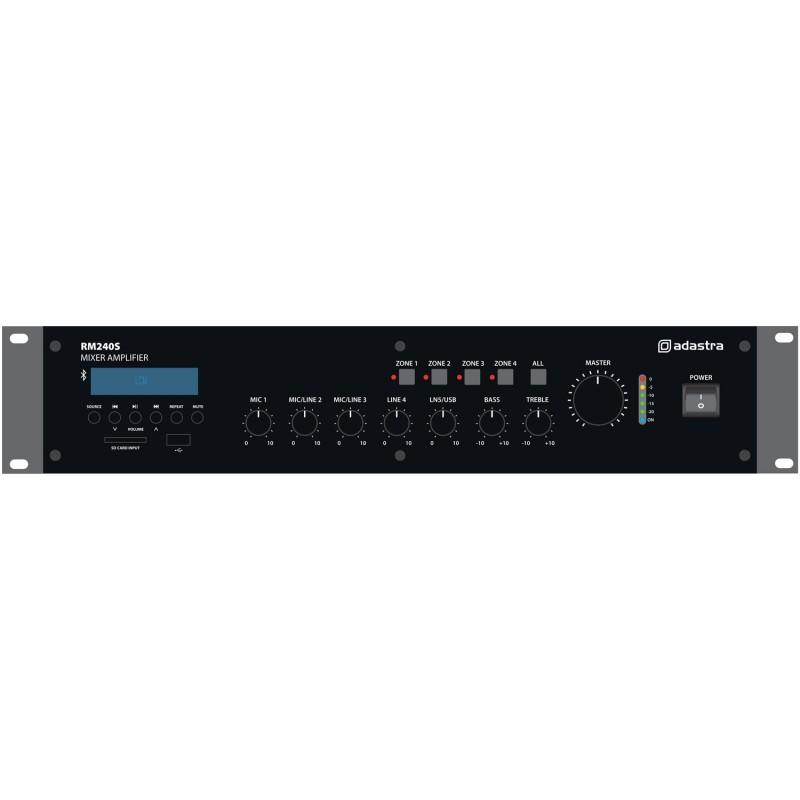 Adastra 5-channel 240watt 100V mixer amplifier