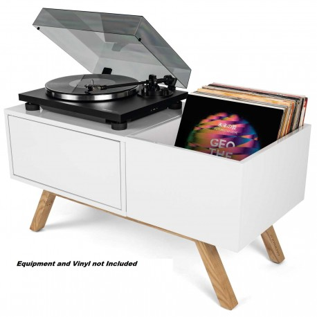 Glorious Turntable Lowboard White