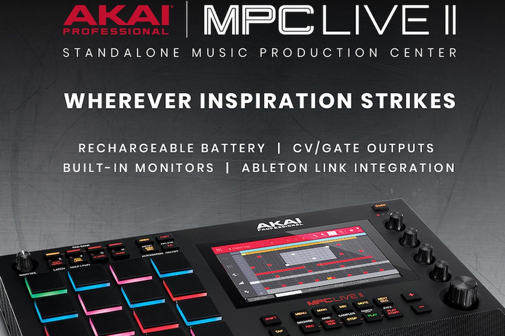 portable standalone music production center, the MPC Live II